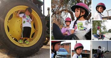 A cavallo con i bambini in Sicilia